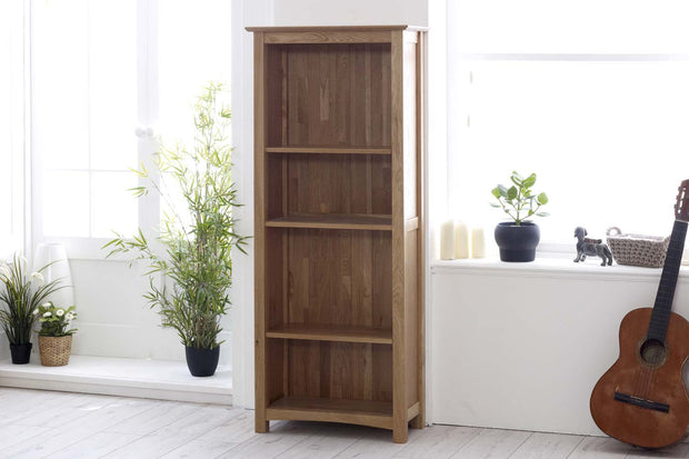 Thornton Oak Narrow Bookcase - The Oak Bed Store