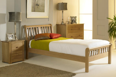 Virginia Light Solid Oak Bed Frame 3ft - Single - The Oak Bed Store