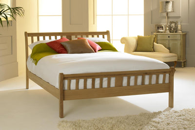 Virginia Light Solid Oak Bed Frame 5ft - King Size - The Oak Bed Store
