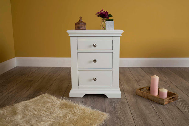 Westcott White 2 + 1 Drawer Bedside Table - The Oak Bed Store
