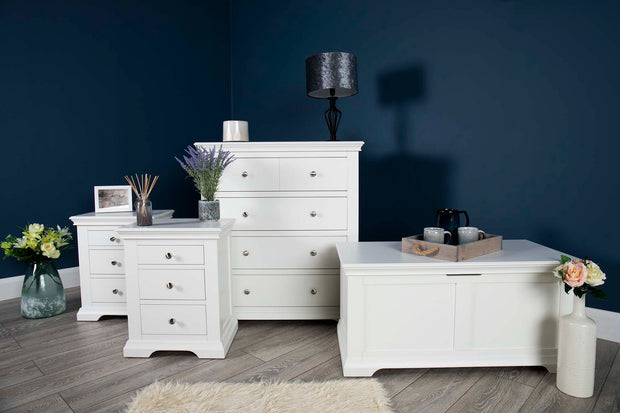 Westcott White 2 + 1 Drawer Bedside Table