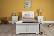 Westcott White Solid Wood Bed Frame - 3ft Single - The Oak Bed Store
