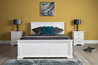 Westcott White Solid Wood Bed Frame - 5ft King Size - The Oak Bed Store