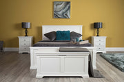 Westcott Soft White Solid Wood Bed Frame - 5ft King Size - The Oak Bed Store