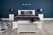 Westcott White Solid Wood Storage Bed 5ft - King Size - The Oak Bed Store