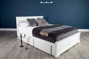 Westcott White Solid Wood Storage Bed 6ft - Super King - The Oak Bed Store