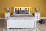 Chester White Ottoman Storage Bed Frame - 5ft King Size - The Oak Bed Store