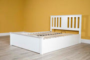 Chester White Ottoman Storage Bed Frame - 4ft6 Double - The Oak Bed Store