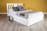 Chester Bright White Ottoman Storage Bed Frame - 4ft Small Double - The Oak Bed Store
