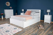 Goodwood White Ottoman Storage Bed Frame - 5ft King Size - The Oak Bed Store