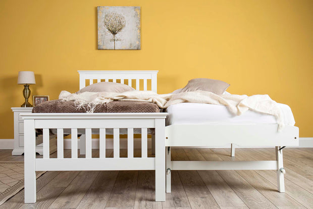 Hampton White Solid Wood Guest Bed - 3ft Single - The Oak Bed Store