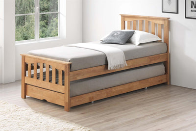 Alexander Oak Wooden Guest Bed - 3ft Single - The Oak Bed Store