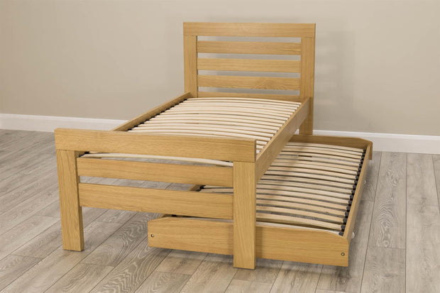 Goodwood Solid Oak Guest Bed - 3ft Single - The Oak Bed Store