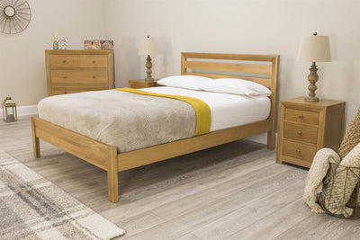 Kensington Solid Oak Bed Frame 4ft6 - Double - The Oak Bed Store