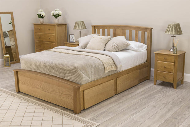 Royal Ascot Solid Oak Storage Bed Frame - 6ft Super King