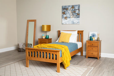 Madrid Rustic Solid Oak Bed Frame - 3ft Single