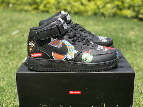 Supreme x NBA x Nike Air Force 1 Mid Black