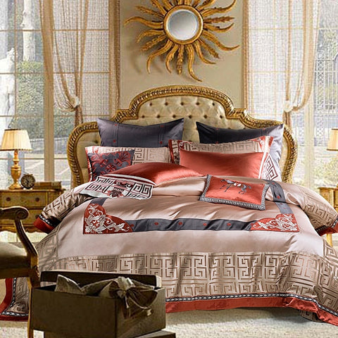 Premium Jacquard Luxury Duvet Cover Set Smooth Bedding Set Queen King size