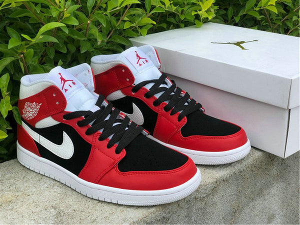 Nike Air Jordan 1 Mid Gym Red/White-Black New