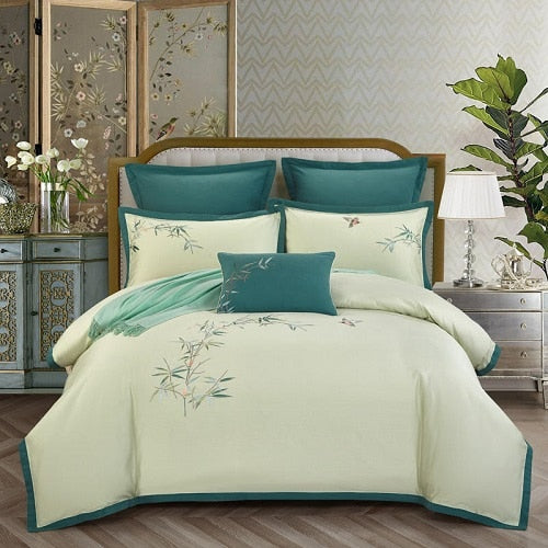 Luxury Egyptian Cotton Classical Bedding Set Queen King Size