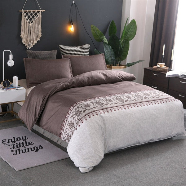 Luxury King Queen Size Bedding Set Duvet Cover Sets Bed Linen