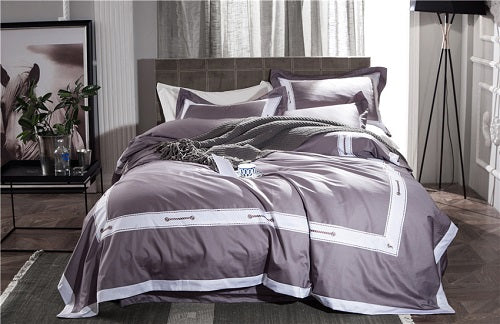 Grey Silver Modern Fashion Luxury Bedding Sets