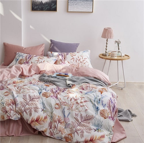 Egyptian Cotton Duvet Cover Fitted/Bed Sheet Bedding Set Queen King Size