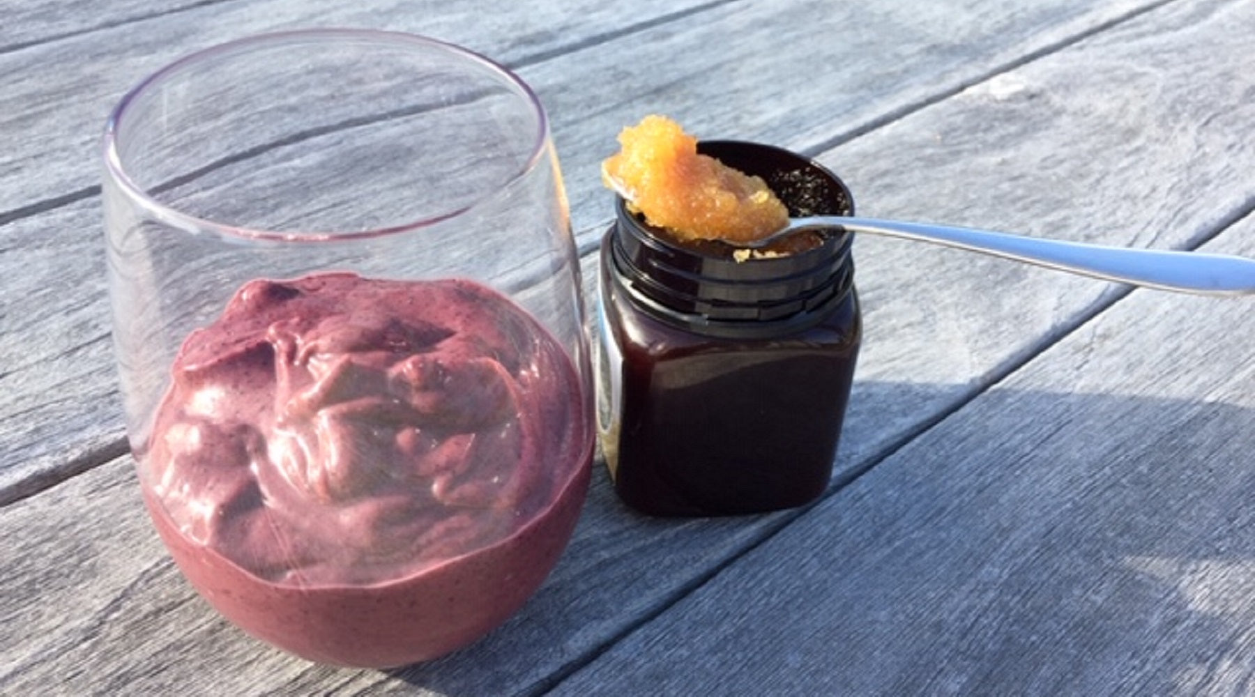 Blueberry, Avocado and Manuka Honey Mousse