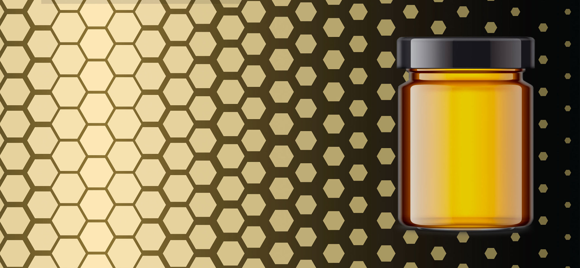 Pure Manuka Honey Pot on stylised background to represent the premium honey category