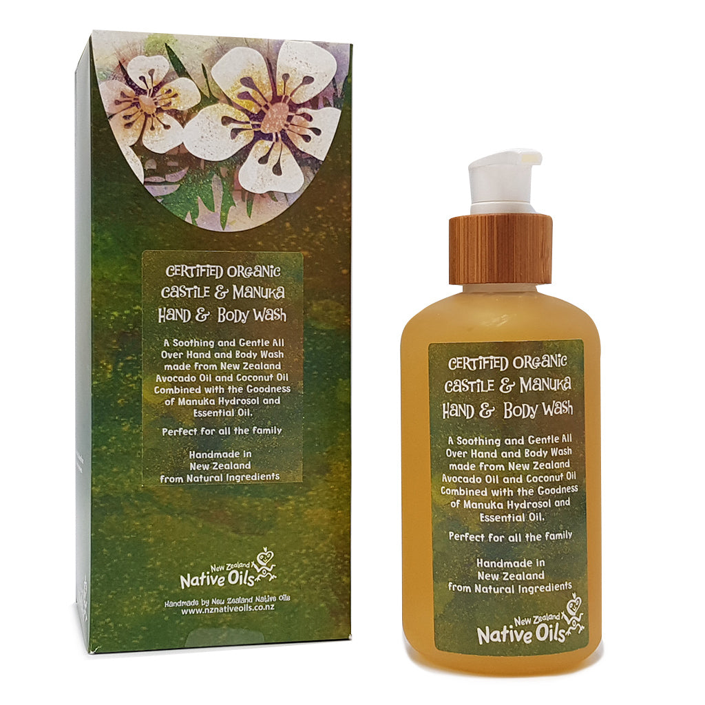 Organic Castile Manuka Hand & Body Wash - Face & Body | NZ Native Oils