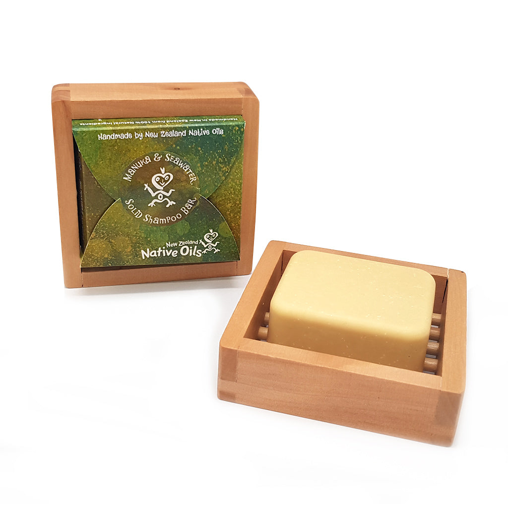 Manuka & Seawater Solid Shampoo Bar - Face & Body | NZ Native Oils