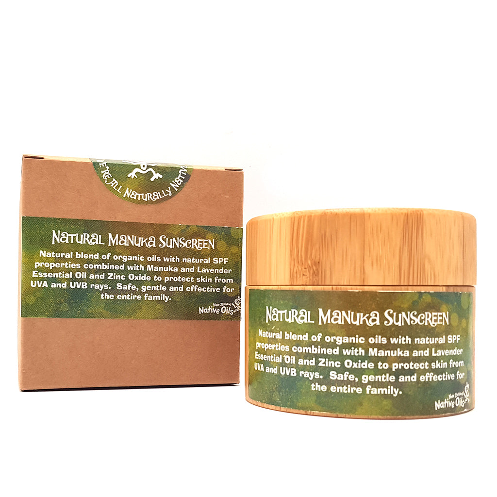 Natural Manuka Sunscreen - Face & Body | NZ Native Oils