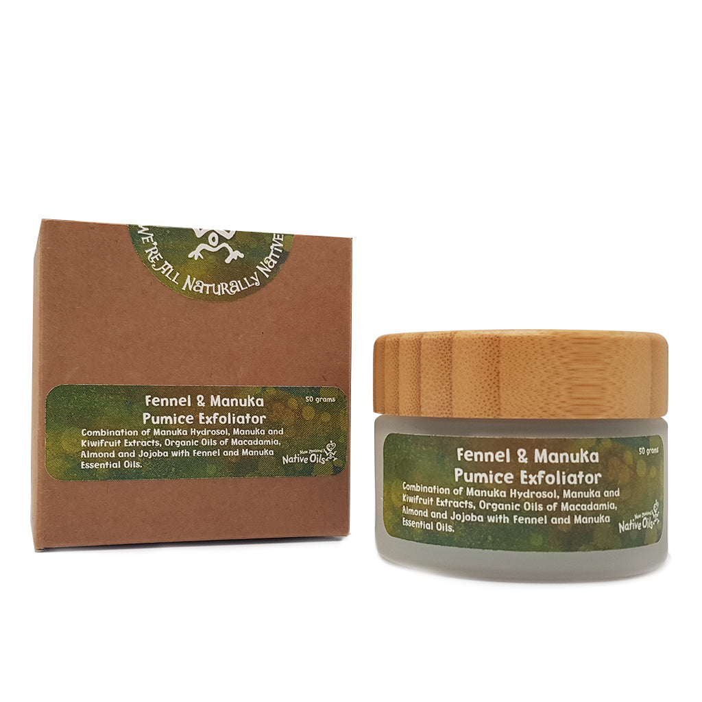 Manuka & Fennel Pumice Face Exfoliator - Face & Body | NZ Native Oils