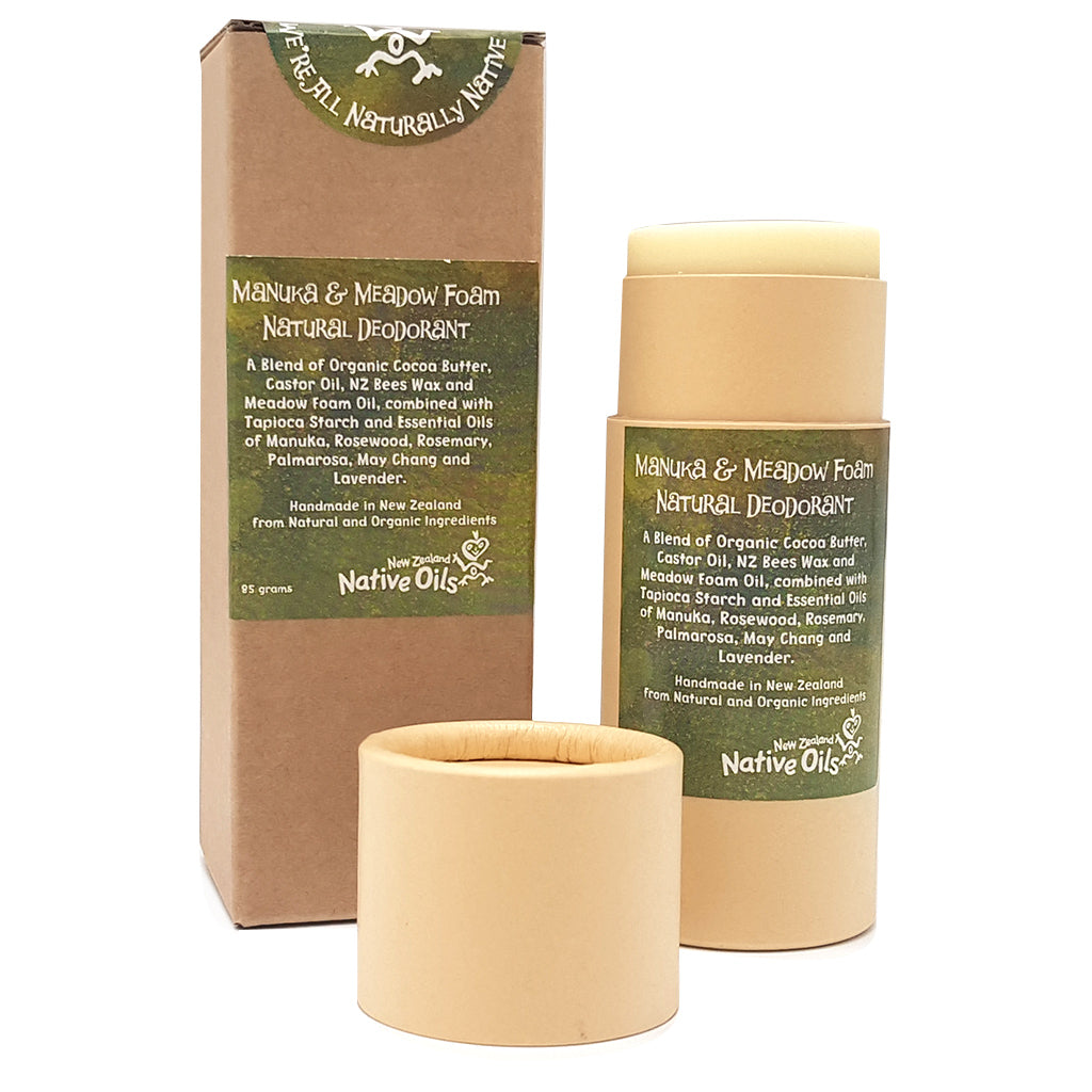 Manuka & Meadow Foam Natural Deodorant - Face & Body | NZ Native Oils