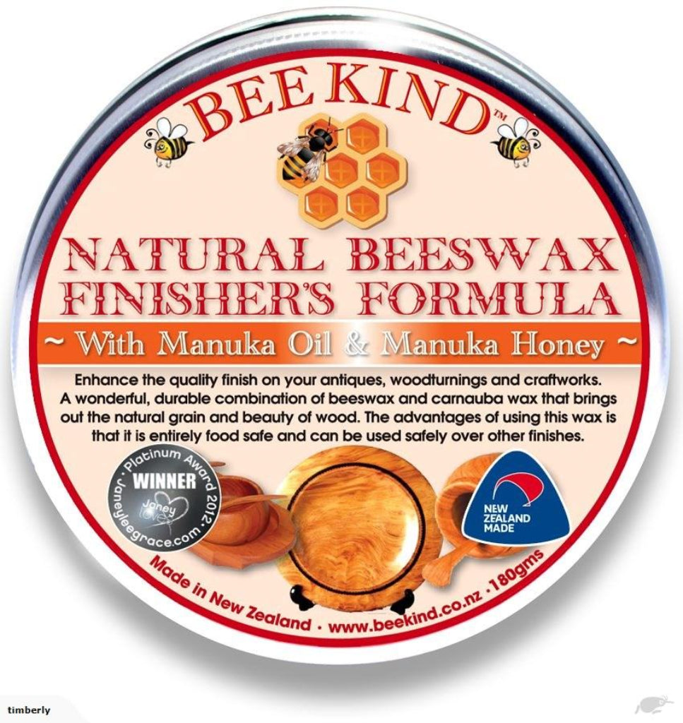 Natural Beeswax to enhance wood grain, entirely food safe