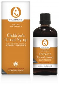 Children's Throat Syrup - Babies & Kids | Kiwiherb