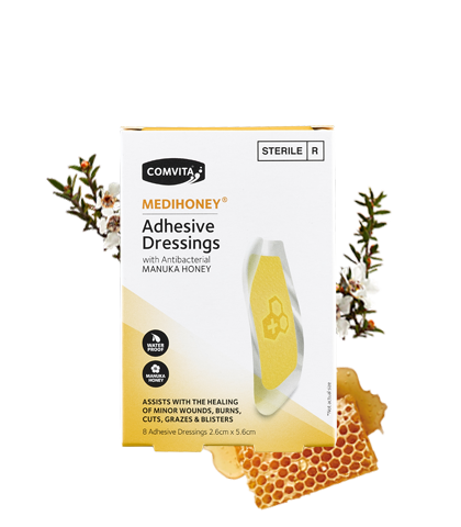 Medihoney Adhesive Dressings 2.6cm x 5.6cm