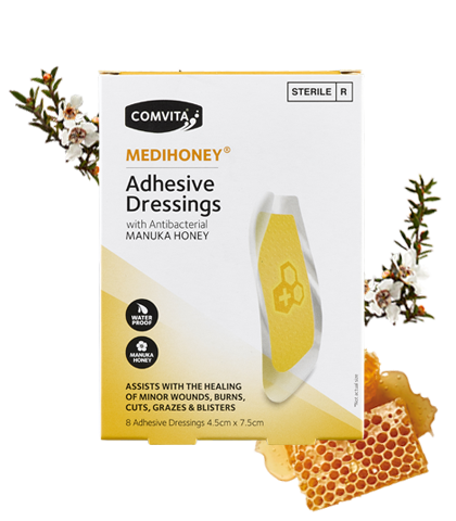 Manuka Honey antibacterial wound dressings by Comvita