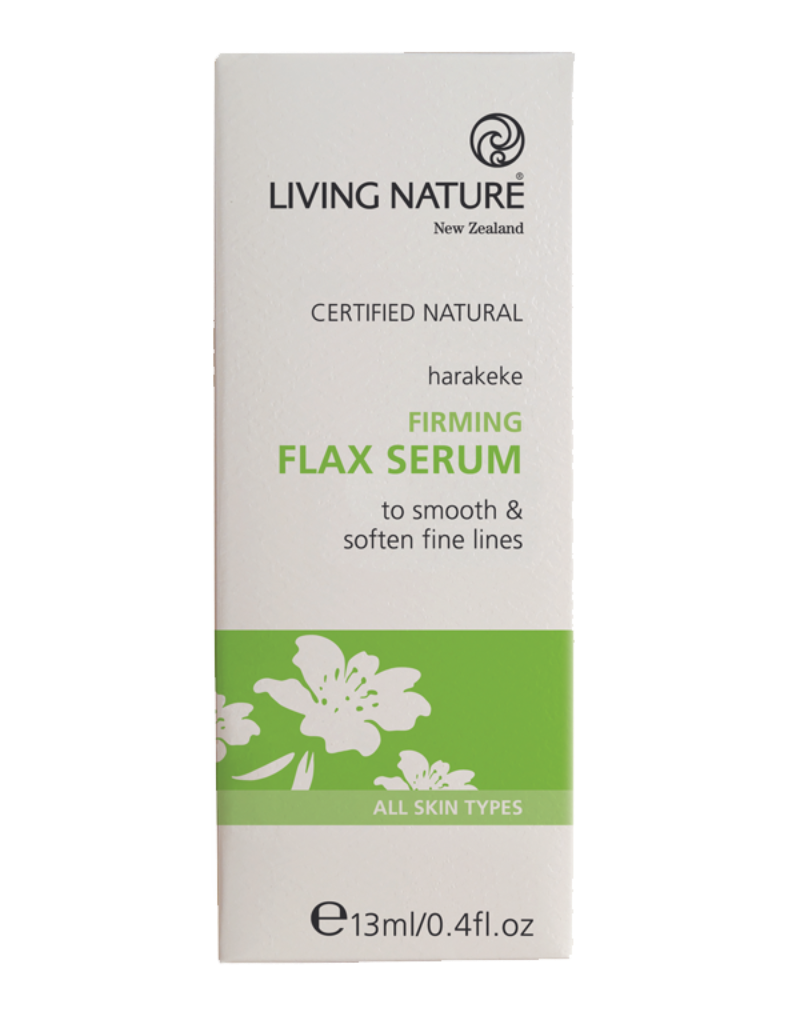 Natural Firming Flax serum, moisturiser with Manuka & Harakeke for anti-aging
