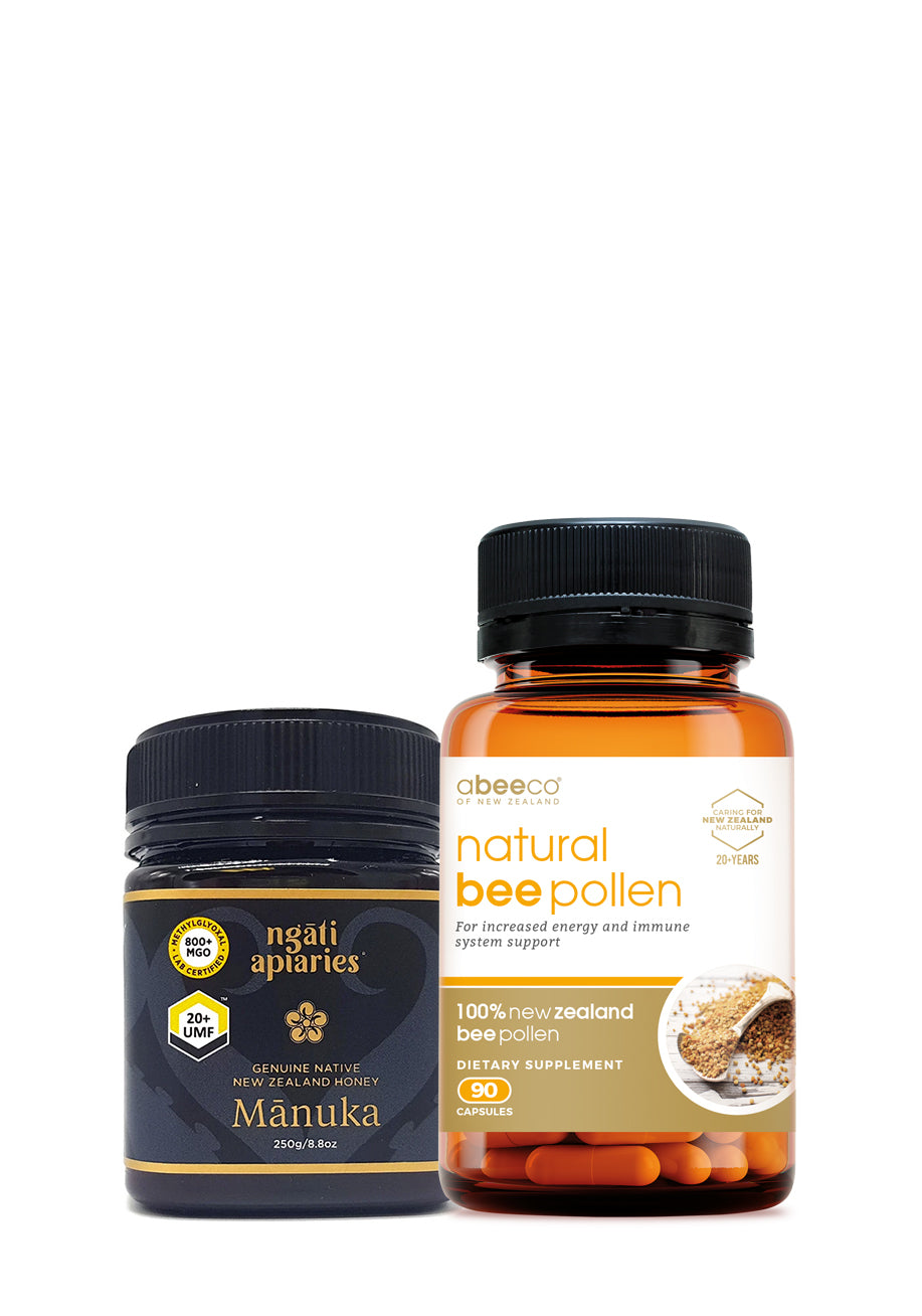 20+ UMF Manuka Honey  & Bee Pollen Combo - Health & Supplements | Manuka Honey of NZ
