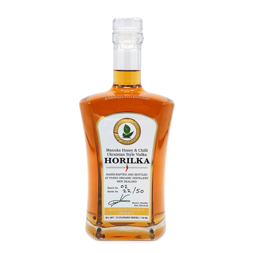 Horilka – Manuka Honey & Chilli Ukrainian Style Vodka - Food & Drink | Puhoi Organic Distillery