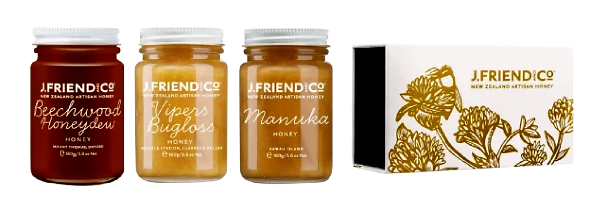 Tea Pairing Honey Collection Large - Manuka Honey | J Friend & Co
