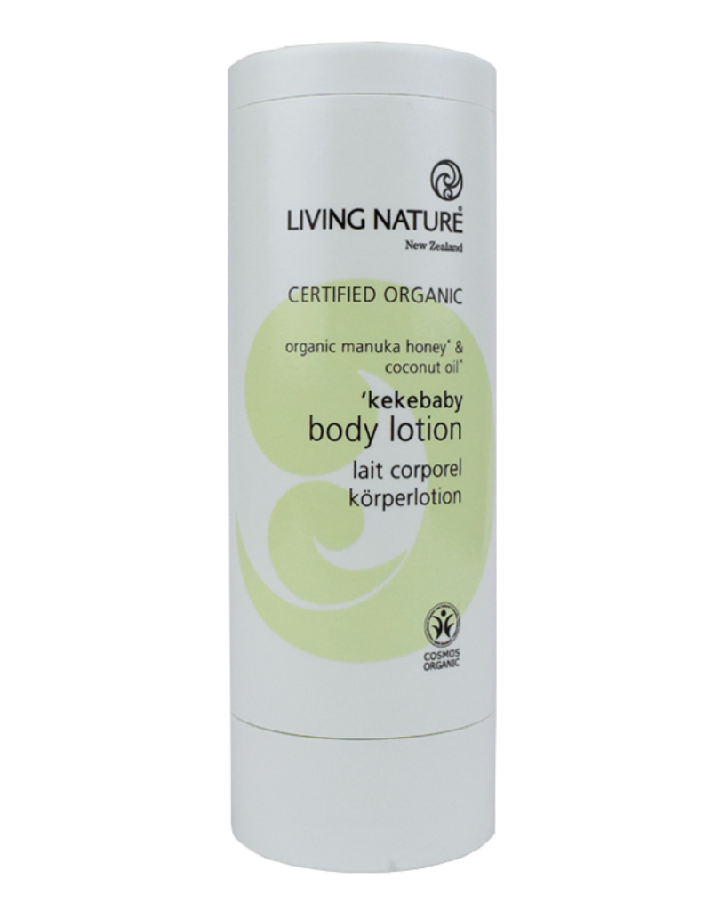 Certified organic Kekebaby Body moisturier with manuka honey & coconut oil