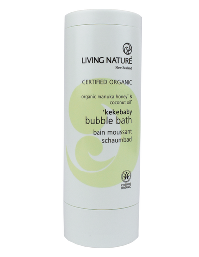 Kekebaby Bubble Bath certified organic nutrient-rich ingredients; Manuka honey, calendula and coconut oil