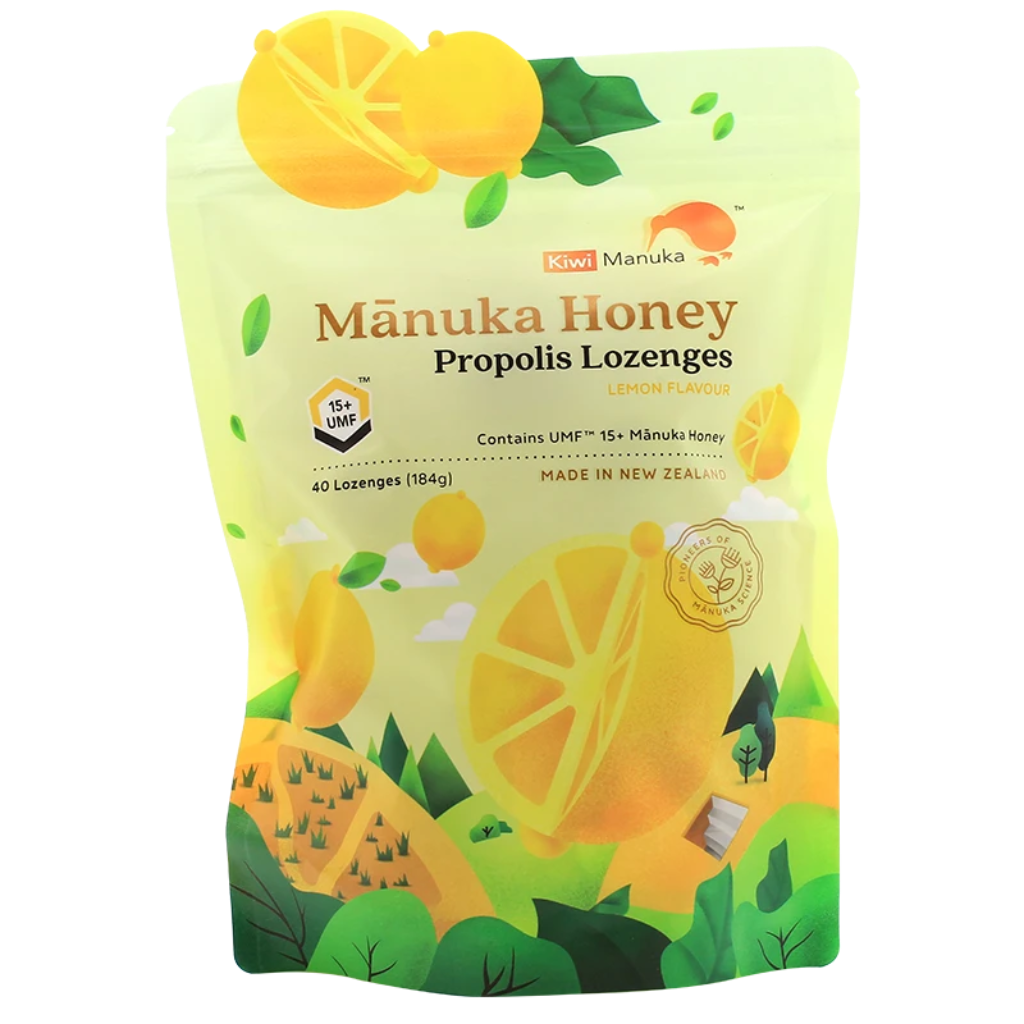 UMF 15+ Manuka Honey & Propolis Lozenges - Health & Supplements | Kiwi Manuka