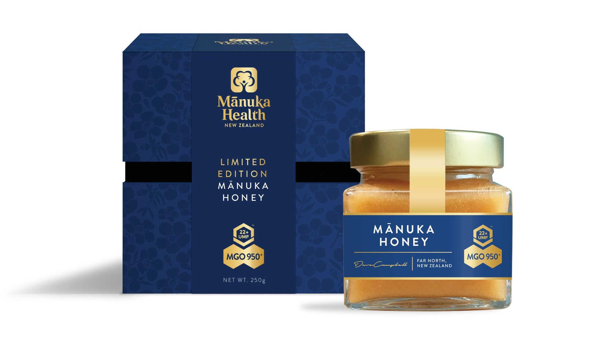 MGO 950+ Manuka Honey 250g with FREE Manuka Honey + Propolis Oral Spray