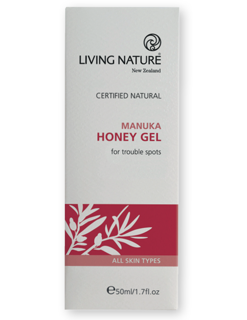 Manuka honey gel to heal, protect, cleanse and soothe acne or blemish skin
