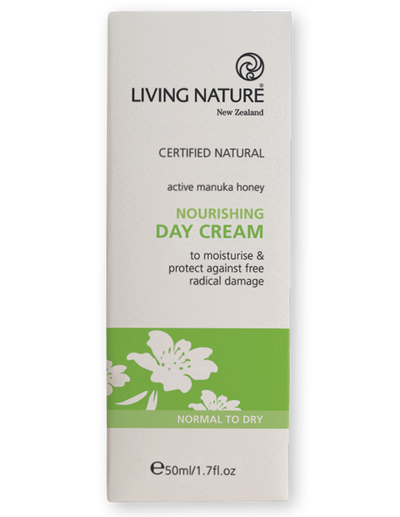 Nourishing day cream, moisturiser with manuka & Totara extract for normal to dry skin