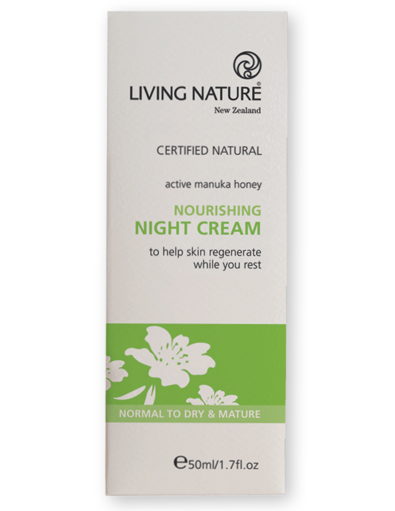 Natural night cream, moisturiser with Manuka and rosehip to restore elastin and collagen level