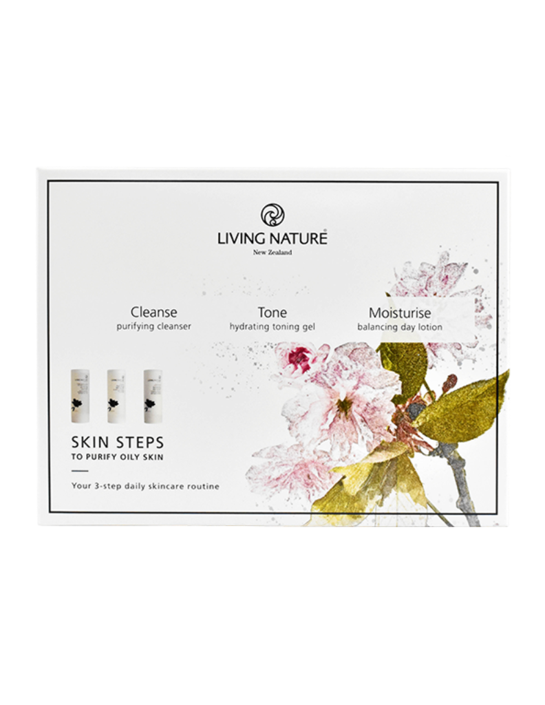 Oily skin box set for Cleanse, tone and moisturise